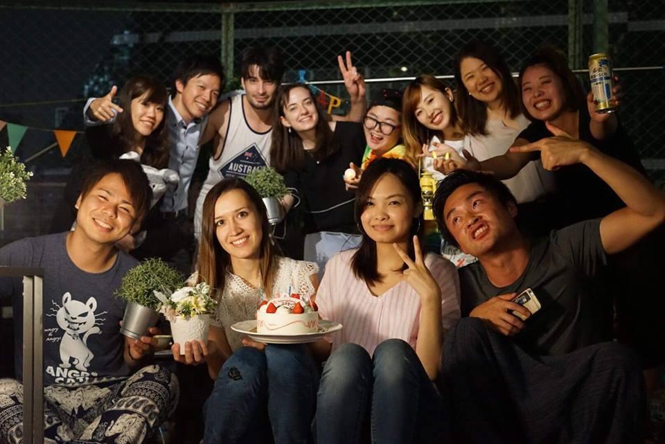 グランピング風誕生日パーティー @hug池袋屋上